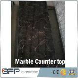 Naturel nouveau meuble lavabo en marbre noir poli haut et les comptoirs