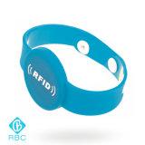 Wristband One-Time do bracelete 125kHz Lf T5577 da curvatura do tamanho feito sob encomenda