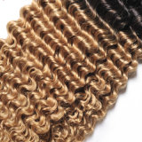 브라질 1b30 금발 브라질 머리 직물은 Ombre 머리 연장을 묶는다
