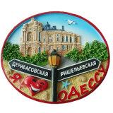 Bâtiment personnalisé de résine de la Russie des aimants de réfrigérateur pour Deco