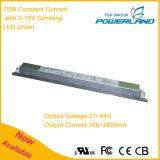75W 700 ~ 2000mA constante LED Driver atual Power Supply com 0-10 escurecimento
