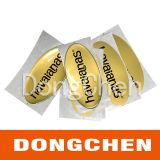 Letra em forma personalizada Die Cut Logo Clear Epoxy Dome Label
