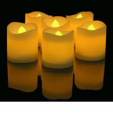 Bateria de Flicker Amarelo sem Fogo LED Tea Light Wholesale