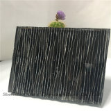 5mm + Silk + 5mm espejo vidrio templado / seda de vidrio impreso / vidrio de arte / vidrio de seguridad para la decoración