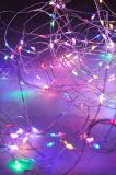 110 luzes feericamente estrelados da corda do fio de cobre da estrela do diodo emissor de luz 36FT Dimmable para o casamento da festa de Natal