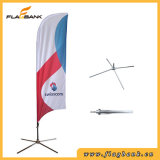 Publicidade exterior Bandeira de praia de impressão digital de fibra de vidro/Feather Pavilhão
