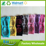 Calcetines antideslizantes Fingerless de la punta de señora Fingers Yoga Socks Socks cinco