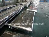 Placa de acero acanalada galvanizada fuente/hoja de acero curvada cubierta color del material para techos