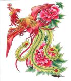 Модный стикер Tattoo искусствоа стикера Tattoo Феникс временно