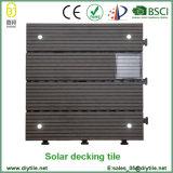 Carrelage de verrouillage solaire extérieur de Decking de la tuile DIY de la lumière WPC