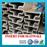 Einlage für Slatwall MDF-Aluminiumaluminiumstrangpresßling-Profil