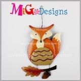 Nova promoção Outono Havest cintilantes Owl Decoração de Metal