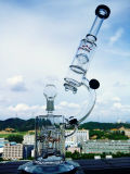 Tubulação de água de vidro do Percolator por atacado do reciclador do microscópio da loja da fábrica