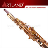 Bb Key Golden Lacquer Finish Professional Soprano Saxophone (ASS4506)