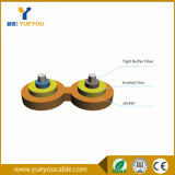 2 Optische Kabel van de Vezel van het Garen Kevlar van kernen Multimode 50/125
