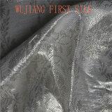 Lurex seda tecido misto, tecido Jacquard metálica de seda