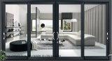 Australia estándar de aluminio Doble Vidrio puerta deslizante con rejilla