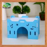 O Castelo de ouriço ecológicos impermeável Rlley Cage Gaiola Porquinho Orifício Coelho Brinquedo Casa Chalet Multicolor