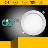 6W diodo emissor de luz montado Recessed magro super redondo novo Panellight (CE; TUV)