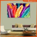 3D цветные перья для украшения живопись на стенной панели