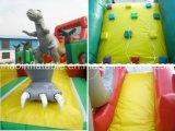 Fabrik-Preis-Jurassic Park-Thema-aufblasbares Hindernis-kombiniertes Plättchen für Verkauf