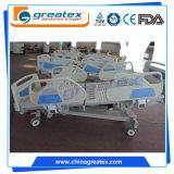 Cama de hospital eléctrica de las funciones de la ROM cinco de la colina