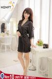 Ropa interior caliente de seda atractiva de la albornoz de señora Sleepwear Casual Home Clothing