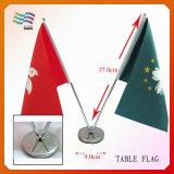 Kundenspezifische Tisch-Markierungsfahnen des Zink-Legierungs-Pole-Satin-Bohrgerät-20*30cm