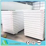 El panel de pared de acero de emparedado de la lana de vidrio EPS del color Rockwool/de los materiales de construcción del metal para la estructura de acero