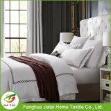 Custom White Polyester King Size Hotel Bedding Set