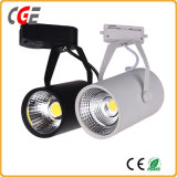Black Color CREE Chip 30W Ra> 90 COB LED Track Light