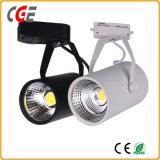 LEDトラックはLEDの点ライト黒いカラークリー族チップ30W Ra>90穂軸LEDトラックライトPAR28/PAR30 LEDランプをつける