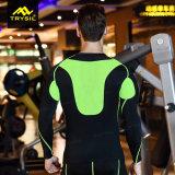 Camicia stretta dei manicotti lunghi di compressione della camicia di addestramento di ginnastica di uomini