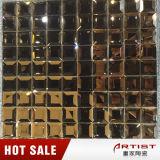 Strato lucido delle mattonelle di mosaico del Brown di colore del mosaico di vetro classico dello specchio