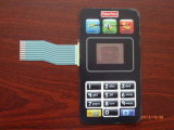 Forma del teléfono móvil, mascotas interruptor de membrana del teclado personalizable con película de la cubierta