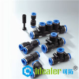 Montaggio d'ottone pneumatico nichelato con Ce/RoHS (MPUT1/4)