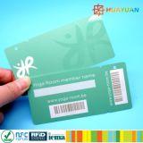 Kombinierte 1 ISO-Plastikkarte plus 1 Plastikschlüsselmarke
