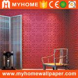 Панель стены PVC 3D пластмассы стены предпосылки TV декоративная чисто для офиса
