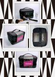 El cosmético de la caja cosmética de la PU del poliester compone el bolso