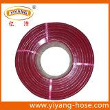 PVC 빨간 투명한 끈목에 의하여 강화되는 호스 또는 정원 호스 또는 물 호스