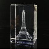 기념품을%s 3D Laser 조각 심상 수정같은 유리 입방체