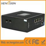 Interruptor de rede Industrial Poe Ethernet com 2 Gigabit SFP
