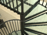 Escalera en espiral de vidrio Australia Escaleras de aluminio estándar con barandilla de aluminio
