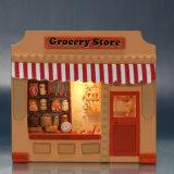 Dollhouse de madeira inteligente do brinquedo DIY do miúdo