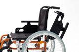 Sedia a rotelle leggera, pieghevole, manuale di alluminio per gli anziani (AL-002)