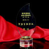 Nouveau style Optical Crystal Award Clear Plaque Crystal Trophy