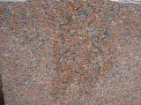中国の赤い花こう岩の平板G564のかえでの赤の花こう岩