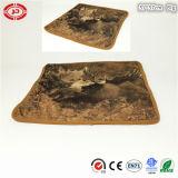 Pillowcase плюша Brown квадратным напечатанный львом мягкий с застежкой -молнией