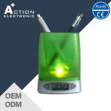 Orologio di Digitahi unico della Tabella del Penholder di promozione con la lampadina del LED