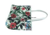 Het met een laag bedekte BloemenPatroon van de Polyester Dame Tote Bags met de Handvatten van Pu